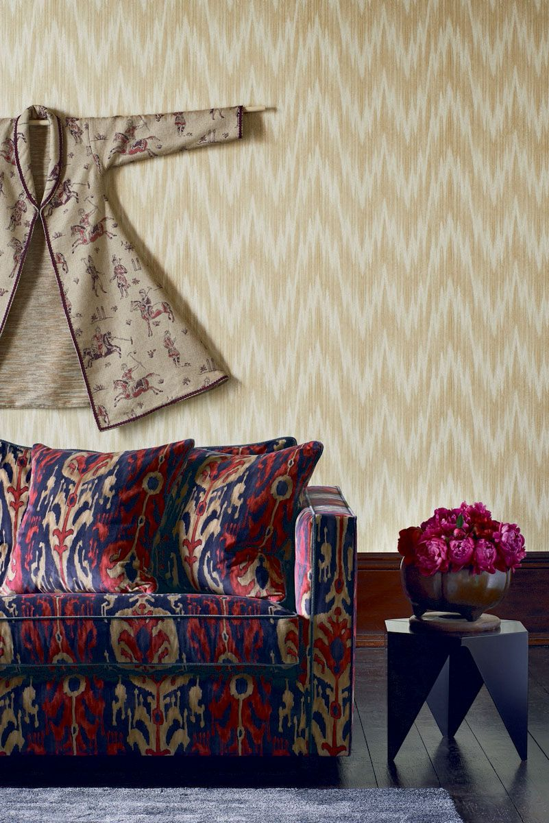 Perdele si tapet Zoffany - Antique Flamestitch WP