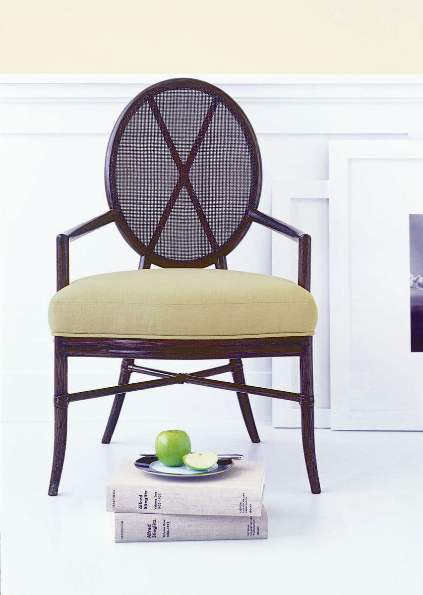 Mobilier Barbara Barry - Oval X Back Arm Chair