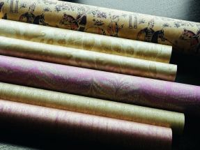 Zoffany curtains and wallpaper – Jaipur WP Group Red Gold