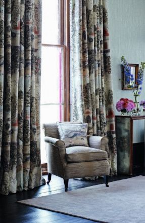 Perdele si tapet Zoffany — Peacock Garden FB Curtains